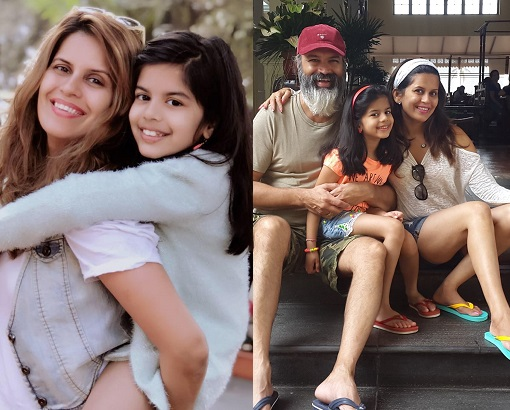 sonali khare with daughter
