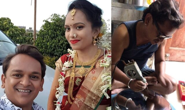 ankur wadhave with wife