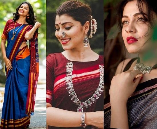 marathi actress sarees