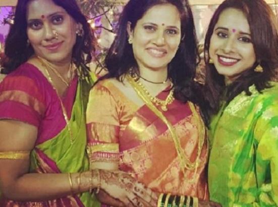 actress sarees in navratri